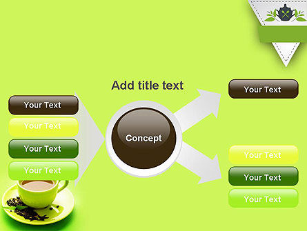 Green Tea Cup PowerPoint Template Slide 14