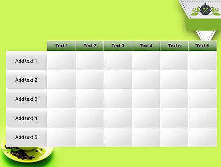 Green Tea Cup PowerPoint Template Slide 15