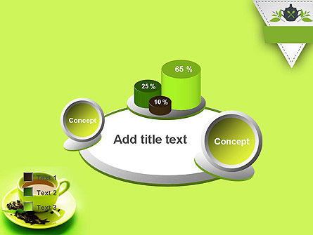 Green Tea Cup PowerPoint Template Slide 16