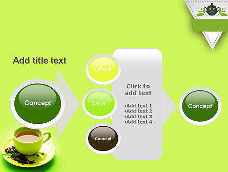 Green Tea Cup PowerPoint Template Slide 17