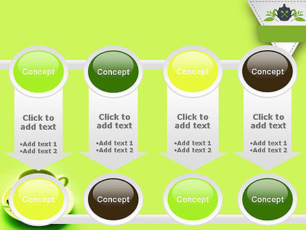 Green Tea Cup PowerPoint Template Slide 18