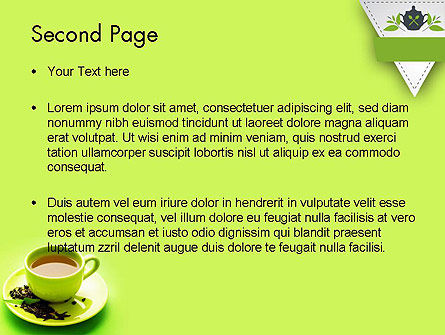 Green Tea Cup PowerPoint Template Slide 2