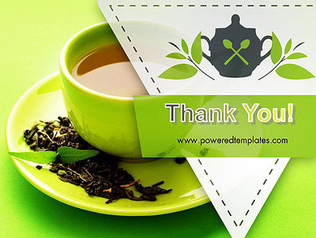 Green Tea Cup PowerPoint Template Slide 20