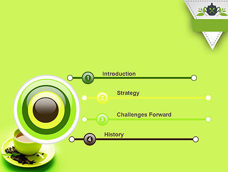 Green Tea Cup PowerPoint Template Slide 3