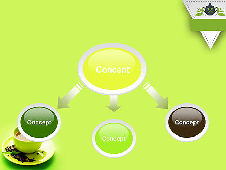 Green Tea Cup PowerPoint Template Slide 4