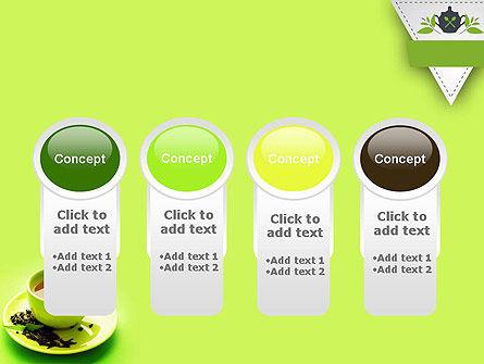 Green Tea Cup PowerPoint Template Slide 5