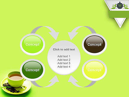 Green Tea Cup PowerPoint Template Slide 6