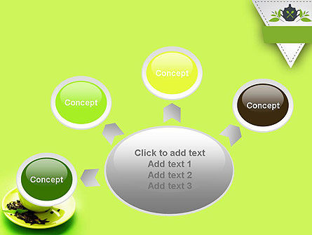 Green Tea Cup PowerPoint Template Slide 7