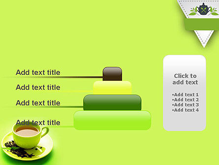 Green Tea Cup PowerPoint Template Slide 8