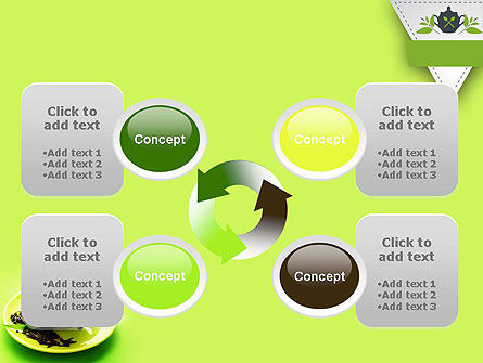 Green Tea Cup PowerPoint Template Slide 9