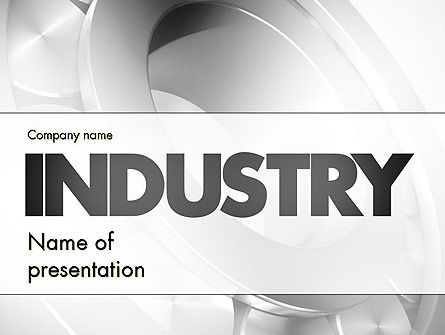 Utilities/Industrial: Heavy Industry PowerPoint Template #11433