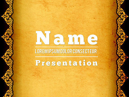 Tracery Frame PowerPoint Template