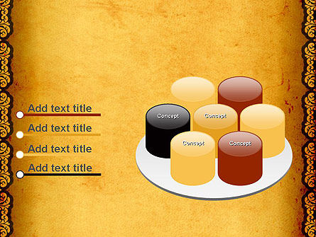 Tracery Frame PowerPoint Template Slide 12