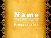 Abstract/Textures: Tracery Frame PowerPoint Template #11434