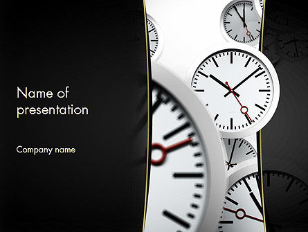 time management in business powerpoint template backgrounds 11435