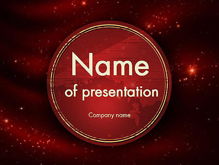 Vinous Stars Theme PowerPoint Template
