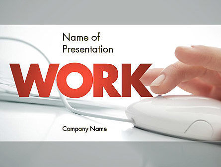 Work at the Computer PowerPoint Template, 11438, Computers — PoweredTemplate.com