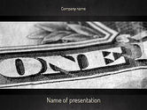 Financial/Accounting: One Dollar PowerPoint Template #11439