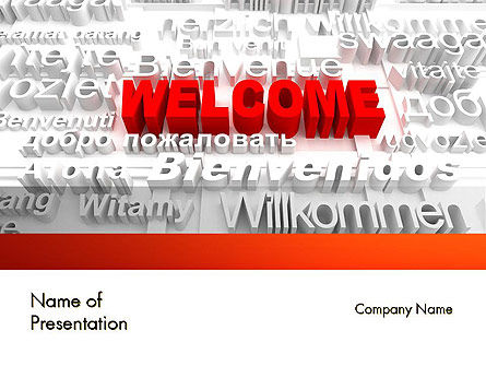 Welcome in Different Languages PowerPoint Template