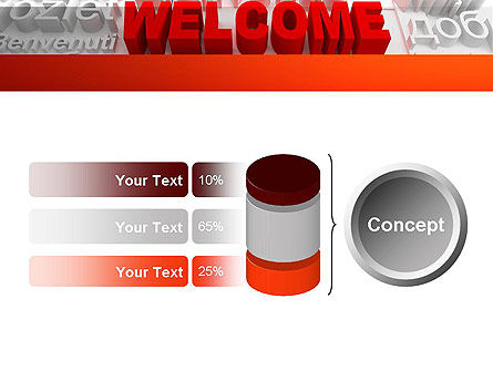 Welcome in Different Languages PowerPoint Template Slide 11