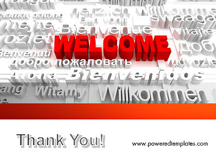 Welcome in Different Languages PowerPoint Template Slide 20
