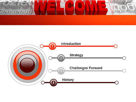 Welcome in Different Languages PowerPoint Template, Slide 3, 11440, Education & Training — PoweredTemplate.com
