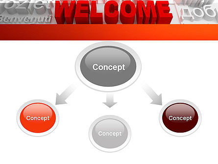 Welcome in Different Languages PowerPoint Template, Slide 4, 11440, Education & Training — PoweredTemplate.com