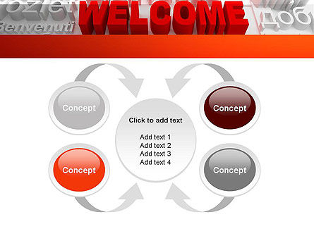 Welcome in Different Languages PowerPoint Template Slide 6