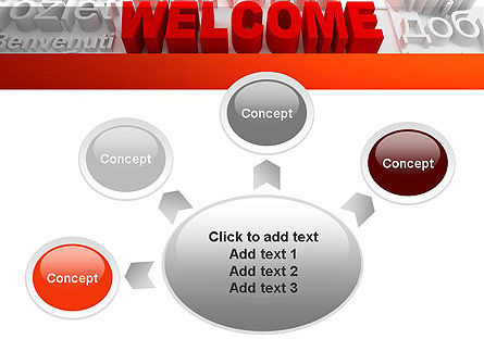 Welcome in Different Languages PowerPoint Template Slide 7