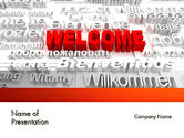 Education & Training: Welcome in Different Languages PowerPoint Template #11440