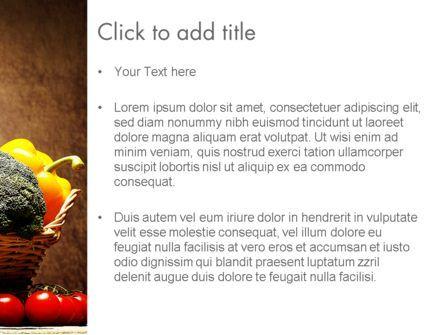 Vegetable Basket PowerPoint Template, Slide 3, 11441, Abstract/Textures — PoweredTemplate.com