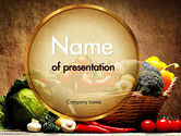 Abstract/Textures: Vegetable Basket PowerPoint Template #11441