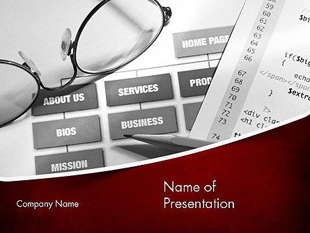 Technology and Science: Website Planning PowerPoint Template #11442