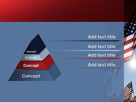 Large Group of American Flags PowerPoint Template Slide 12