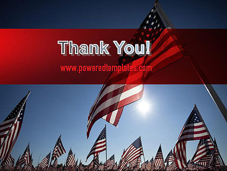 Large Group of American Flags PowerPoint Template Slide 20