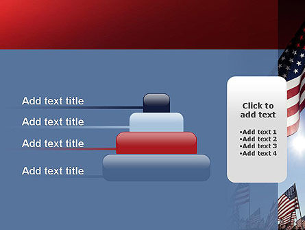 Large Group of American Flags PowerPoint Template Slide 8