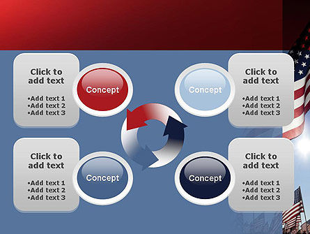 Large Group of American Flags PowerPoint Template Slide 9
