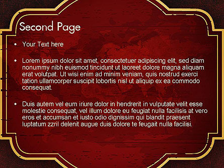 Vintage Style World Map PowerPoint Template Slide 2