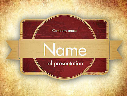 Abstract/Textures: Uitstekend Etiket Thema PowerPoint Template #11451