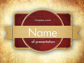 Abstract/Textures: Vintage Label Theme PowerPoint Template #11451