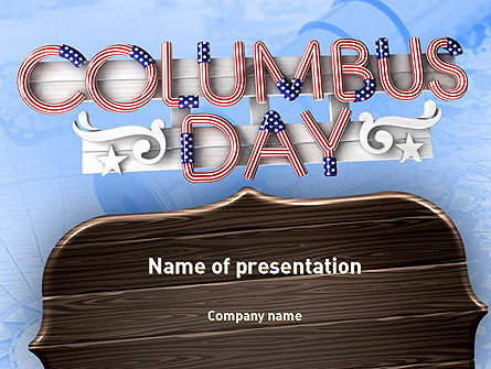 Columbus Day Theme PowerPoint Template, 11452, Holiday/Special Occasion — PoweredTemplate.com