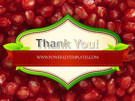 Pomegranate Seeds PowerPoint Template Slide 20