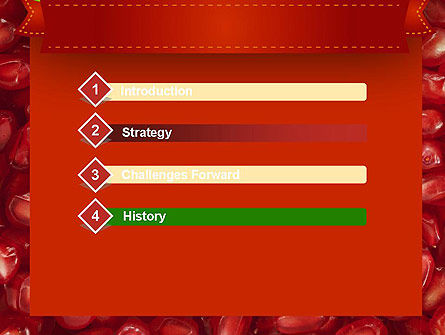 Pomegranate Seeds PowerPoint Template Slide 3