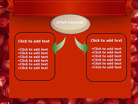 Pomegranate Seeds PowerPoint Template Slide 4