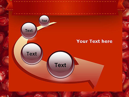 Pomegranate Seeds PowerPoint Template Slide 6