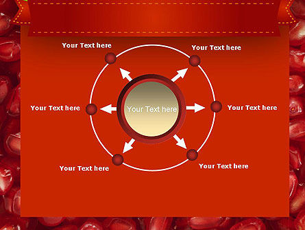 Pomegranate Seeds PowerPoint Template Slide 7