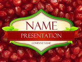 Food & Beverage: Pomegranate Seeds PowerPoint Template #11454