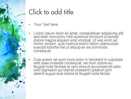 Turquoise Watercolor Stains PowerPoint Template, Slide 3, 11456, Abstract/Textures — PoweredTemplate.com