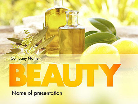 Olive Essential Oils PowerPoint Template