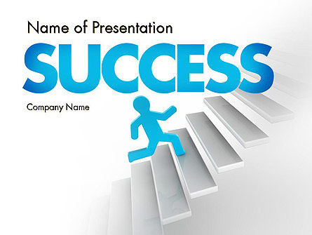 Running Upstairs PowerPoint Template